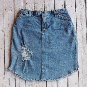 Vintage Liz Claiborne Distressed Denim Skirt